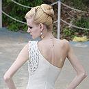 Asymmetrical Wedding Dress With Braids