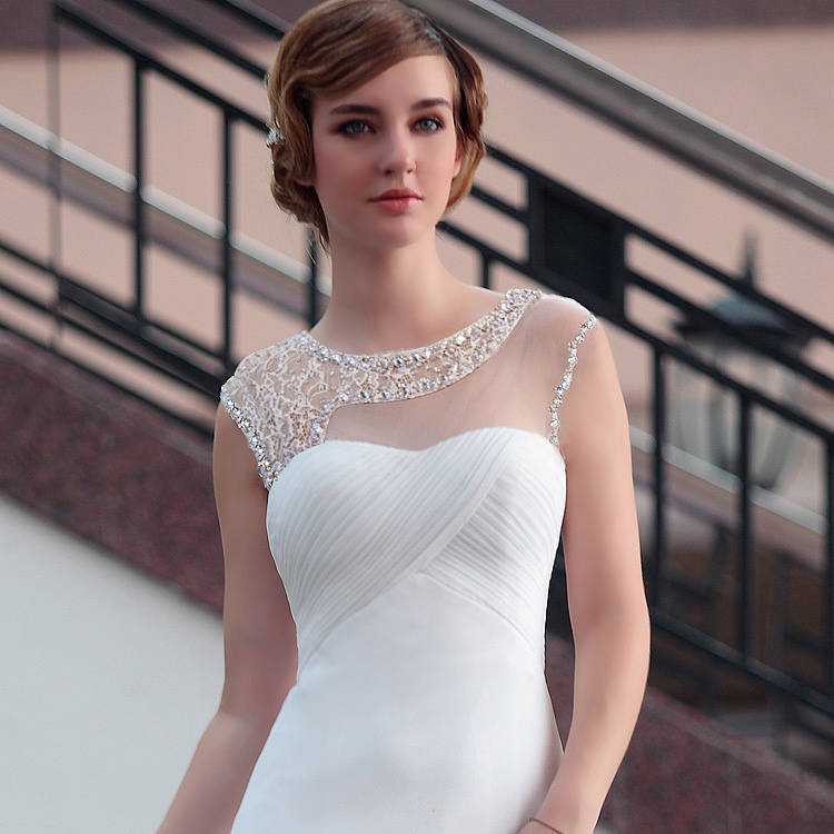 Lace Wedding Dress with Beading