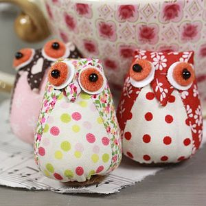 Fabric Mini Owl Magnet - kitchen