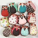 Fabric Mini Owl Magnet