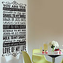 'Peanut To My Butter' Wall Sticker Decal