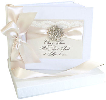 Opulence Personalised Wedding Guest Book