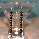 Hematite Drop Earrings By INSPIRE ROCKS