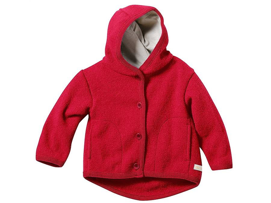 children's organic boiled merino wool coat by lana bambini ...