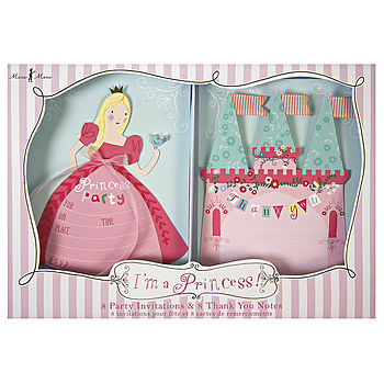 Princess Party Invitation And Thank You Set