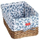 Safari Blue Deep Wicker Storage Tray