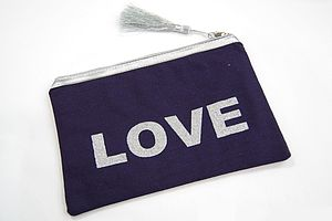 'Love' Cosmetic Bag - bathroom