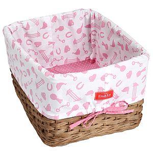 Girl's Deep Wicker Basket