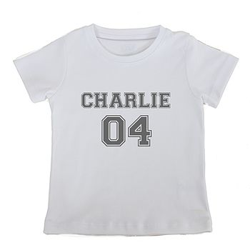 Personalised Number Short Sleeved T Shirt