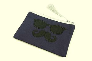 Moustache And Glasses Toiletry Bag - bathroom