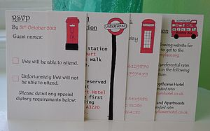 London Wedding Information Cards - wedding stationery