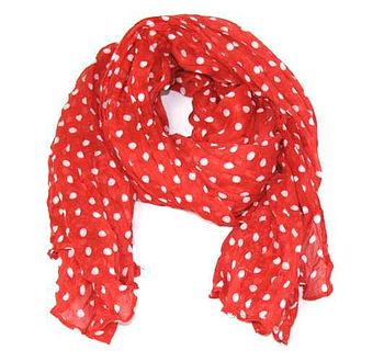 Polka Dot Twist Scarf