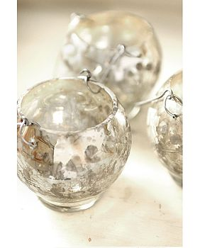 Silver Hanging Tea Light Holders Set