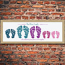 Small Personalised Family Foot Print