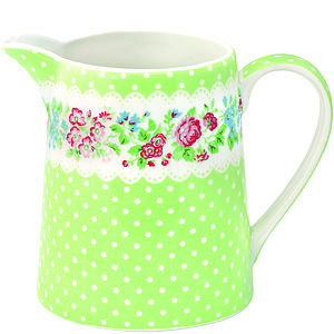 Porcelain Ivy Green Jug - crockery & chinaware
