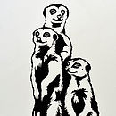 Meerkat Vinyl Wall Sticker Set