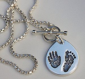Personalised Hand And Foot Pendant Necklace - necklaces & pendants