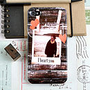 Personalised Photo Phone Case With Hearts And A Message for iPhone 4