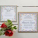 Spring Petals Wedding Invitation Set