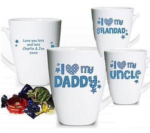 Personalised Father's Day Mug And Chocolates