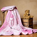 Pink Patchwork Quilted Bedspread Set