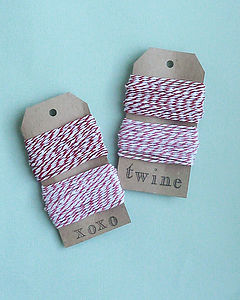 Valentine Bakers Twine - ribbon & wrap