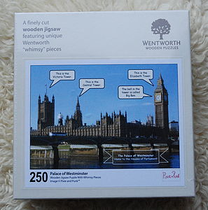 Houses Of Parliament Wooden Jigsaw - shop by occasion