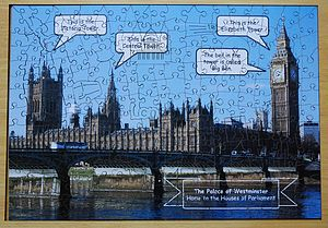 Houses Of Parliament Wooden Jigsaw - toys & games