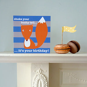 Fox Birthday Greeting Card - shop by category