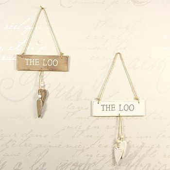 'The Loo' Wooden Sign
