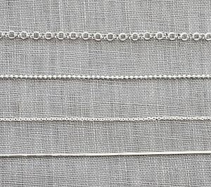 Sterling Silver Chain - necklaces & pendants
