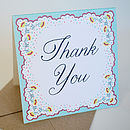 Personalised Spring Petals Thank You Card