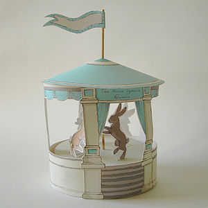 Paper Circus With Dancing Hares - easter decorations