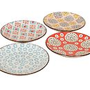 Set Of Four Bohemian Plates