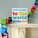 Multicoloured Baby Greetings Card