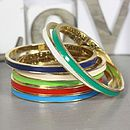 Hidden Word Enamel Bangle