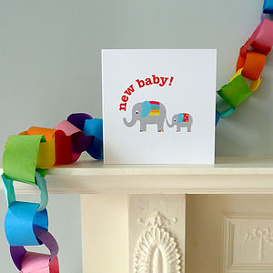 'New Baby' Elly Greeting Card