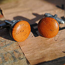 Textured Leather Cufflinks