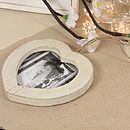 Distressed Wooden Heart Photo Frame