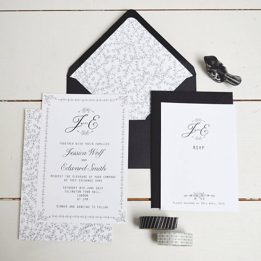 Daisy Chain Wedding Invitation Set By Lucy Says I Do