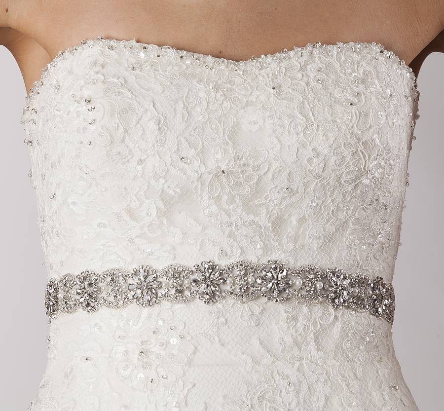 beatrix wedding dress belt by sash co