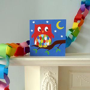 Night Owl Greetings Card