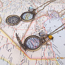 Personalised Map Locket Necklace By EVY Designs Ltd