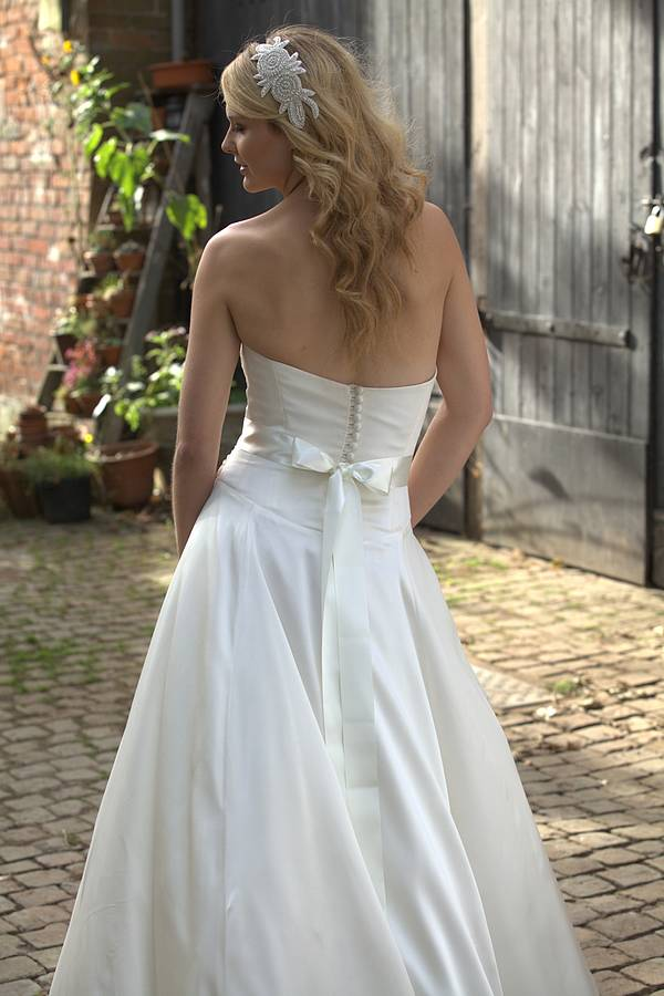 madeline wedding dress belt by sash & co. | notonthehighstreet.com