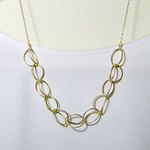 18Ct Gold Vermeil Lily Necklace - women's jewellery
