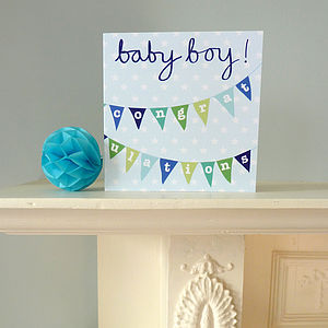 Bunting New Baby Greetings Card - shop by category