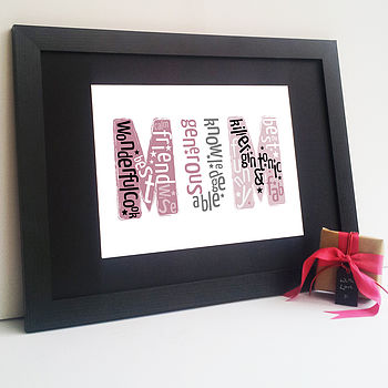 Mothers Day Personalised 'Mum' Print
