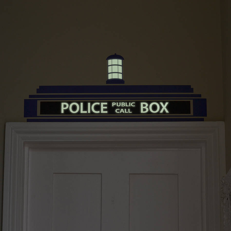 Police Box Wall Sticker · Tardis Stick, Glow In The Dark