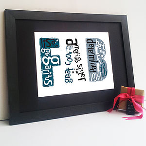 Personalised 'Fab' Print - gifts for teenage girls