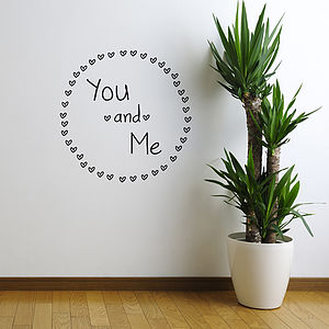 'You And Me' Wall Sticker